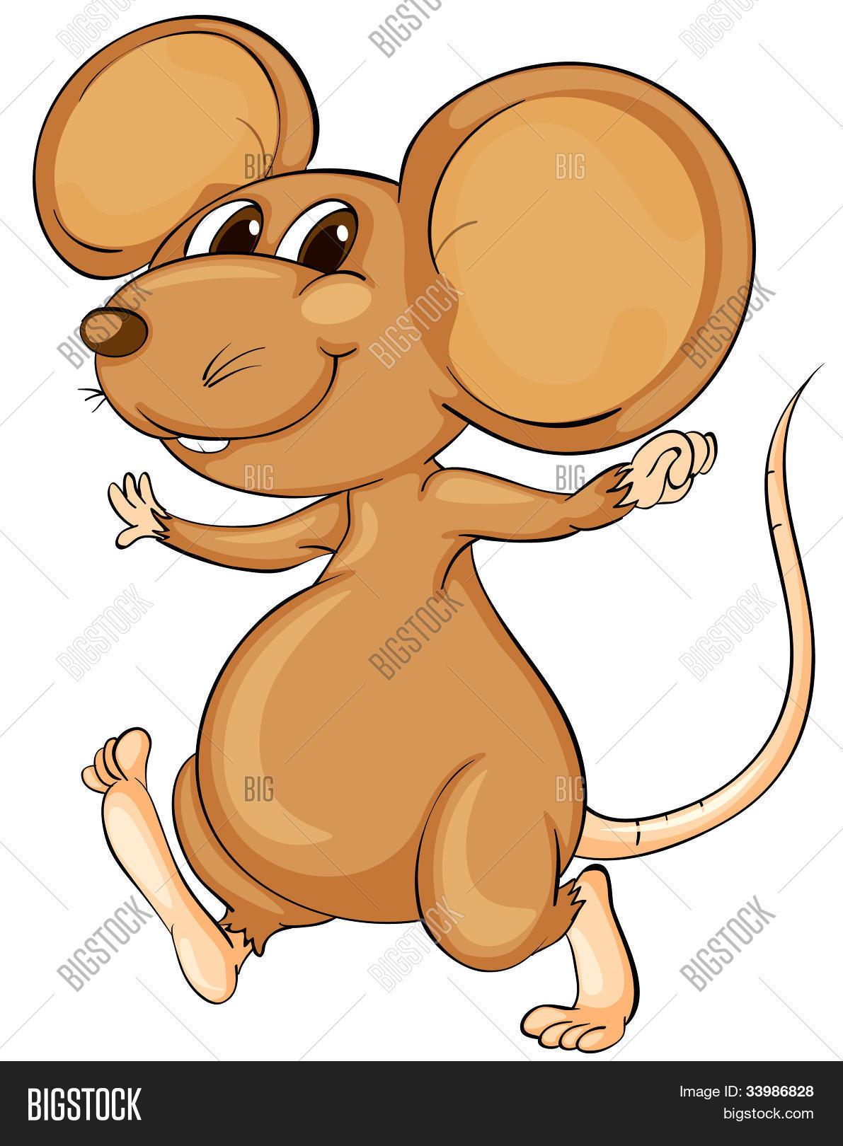 cute cartoon mouse on image photo free trial bigstock