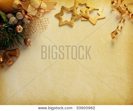 Christmas decoration. vintage background with space for text or image. paper textures.