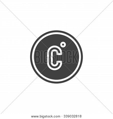 Celsius Temperature Vector Icon. Filled Flat Sign For Mobile Concept And Web Design. Celsius Button