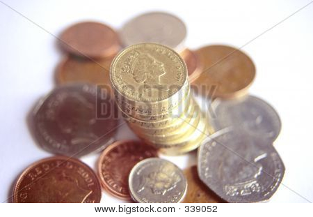 selection of british coins poster