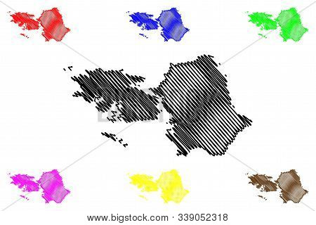 Galway County Council (republic Of Ireland, Counties Of Ireland) Map Vector Illustration, Scribble S
