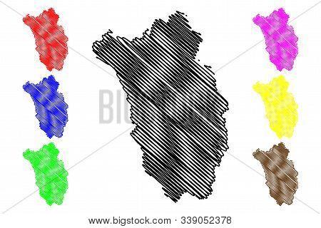 Kilkenny County Council (republic Of Ireland, Counties Of Ireland) Map Vector Illustration, Scribble