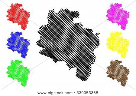 South Dublin County Council (republic Of Ireland, Counties Of Ireland) Map Vector Illustration, Scri