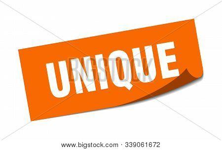 Unique Sticker. Unique Square Isolated Sign. Unique
