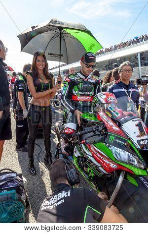 Jerez De La Frontera - October 16, 2016: World Superbike Race Jonathan Rea, Kawasaki Racing Team, 1,