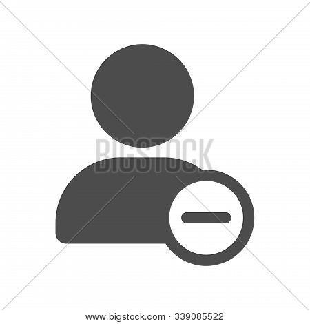 Delete Unfriend User Account Profile Ui Web Button Isolated On White Background. Social Media Ui Ele