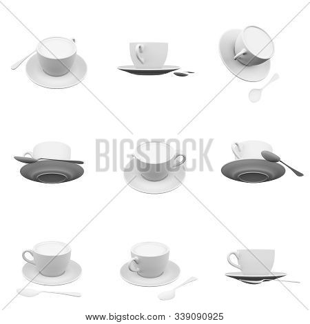 Cup Isolated On The White Background 3d Rendering