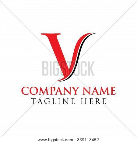 Initial Letter V Logo With Creative Modern Business Typography Vector Template. Creative Abstract Le