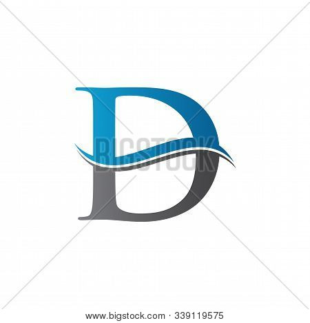 Initial Letter D Logo With Creative Modern Business Typography Vector Template. Creative Abstract Le