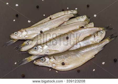 Fresh Raw Sea Fish Smelt Or Sardines Ready For Cooking