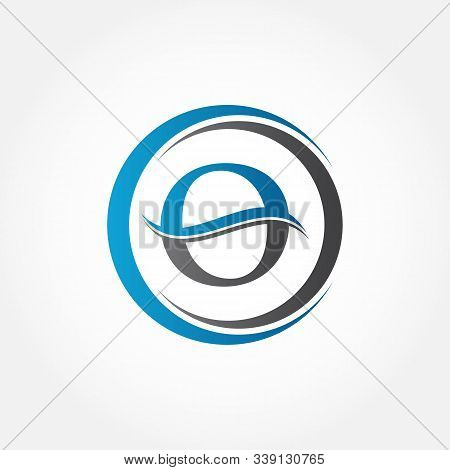 Circle Letter O Logo With Creative Modern Business Typography Vector Template. Creative Abstract Let