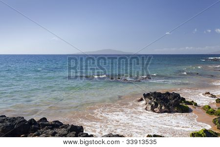 View at Lanai Island from Maui, HI