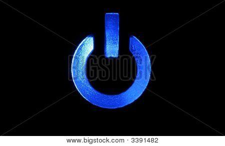 Closeup Image Of Power Button Icon