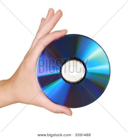 Female Hand Holding Storage/Backup Cd