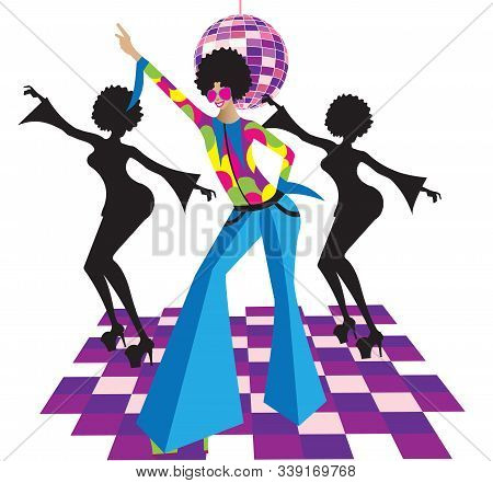 Illustration Of Disco Dancers