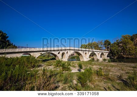 Ancient Gorica Bridge Over Osum River - Berat, Albania, Europe