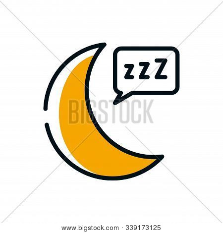 Moon And Sleep Bubble Design, Night Bedtime Sky Space Moonlight Nature And Space Theme Vector Illust