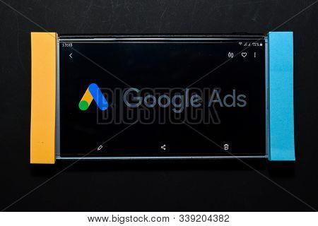 Bekasi, West Java, Indonesia. December 13, 2019 : Google Ads Dev Application On Smartphone Screen. G