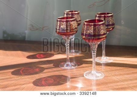 Red Glassware