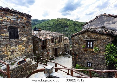 Talasnal, Portugal - August 22, 2019: View Of The Marvelous Old Schist Village Of Talasnal Where Nat