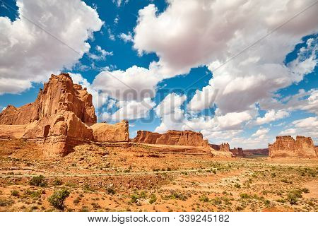 Rock Formations In Arches National Park, Usa.