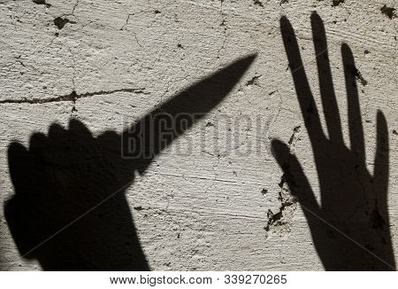 Shadows. Criminal And Victim.