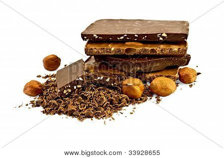 Chocolate Different With Hazelnuts