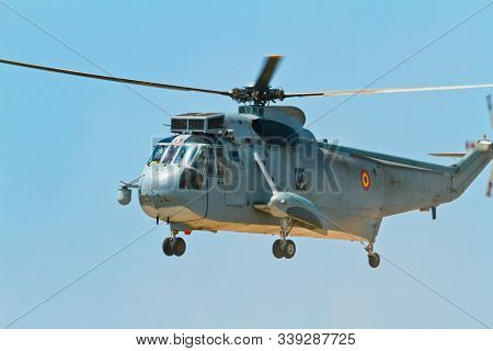 Malaga, Spain-may 28: Helicopter Westland Sh-3d/w Seaking Of The Spanish Navy Taking Part In An Exhi