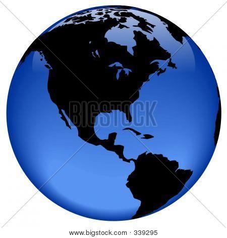 Globe View - America