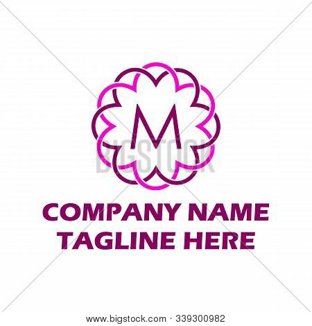 M Dots Logo Design Template. Hexagon M Icon. M Letter Logo Vector. Hexagon Logo, M Letter, M Dots, M
