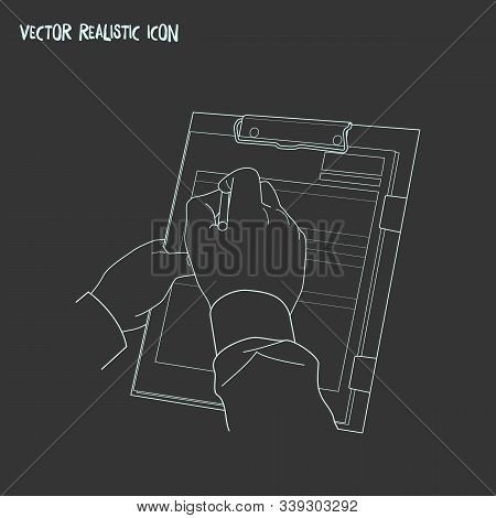 Inspection Icon Line Element. Vector Illustration Of Inspection Icon Line Isolated On Clean Backgrou