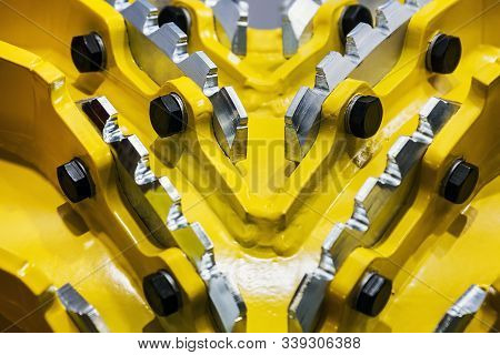 Milling Cutter With Cutters On A Woodworking Machine For Turning