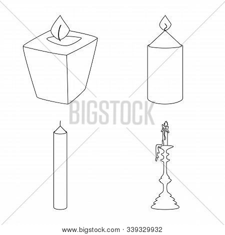 Vector Illustration Of Source And Ceremony Icon. Set Of Source And Fire Vector Icon For Stock.