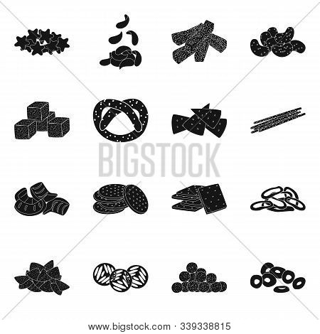 Vector Illustration Of Party And Cooking Icon. Collection Of Party And Crunchy Vector Icon For Stock