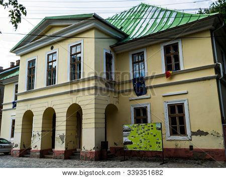Oravita, Romania - September 09, 2019: The Oravița Theater Was Built In 1816 Following The Model Of