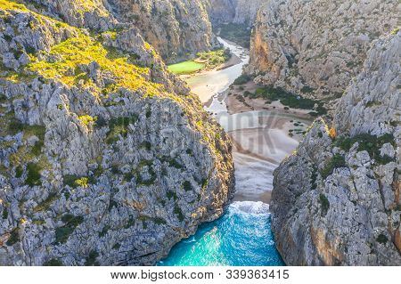 Torrente De Pareis, Island Of Mallorca, Balearic Islands, Spain