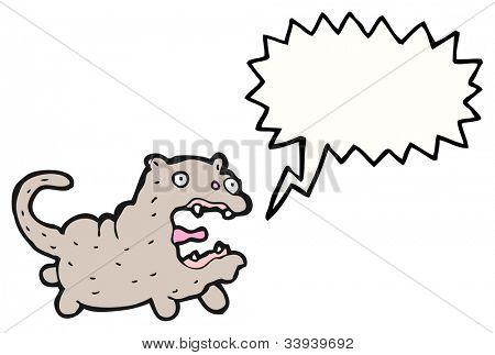 screaming cat cartoon