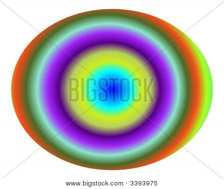 Pop Art Multicolor Concentric Gradient