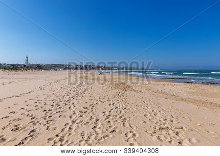 The Beach Of Jeffreys Bay - South African Capital Of Surfing
