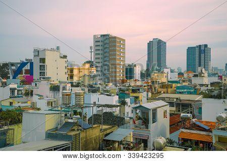 Ho Chi Minh City, Vietnam - December 19, 2015: Morning Cityscape Of Modern Saigon (ho Chi Minh City)