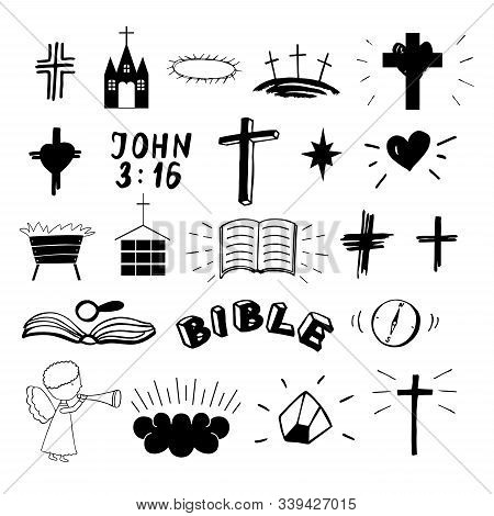 Set Of 22 Christian Icons . Ministry . Biblical Background.