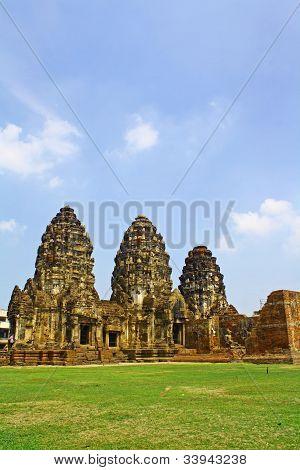 Phra Prang Sam Yod. Lopburi Province, Thailand.