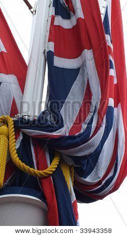Furled Union Jack flag