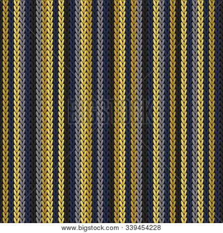 Jersey Vertical Stripes Knitting Texture Geometric Vector Seamless. Ugly Sweater Knit Effect Ornamen