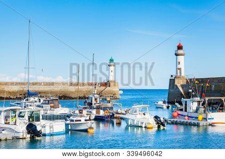 Port Of Town Le Palais In Isle Belle Ile En Mer In France In The Morbihan