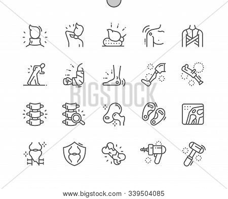 Orthopedics Well-crafted Pixel Perfect Vector Thin Line Icons 30 2x Grid For Web Graphics And Apps.