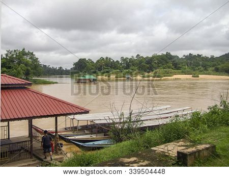 Waterside Scenery At Pahang River In Malaysia