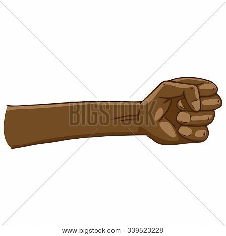 Fist Hand Icon. Vector Illustration Fist. Fist Up Hand Drawn.