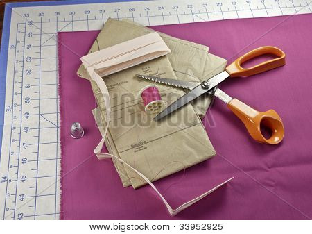 Preparing To Cut A Pattern for sewing
