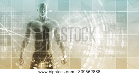 Wearable Technologies and Biometrics Tracking System Art 3D Render